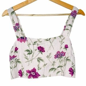American Eagle Bralette Floral Bow Crop Top NWT